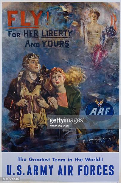 Fly For Her Liberty and Yours Poster by Howard Chandler Christy