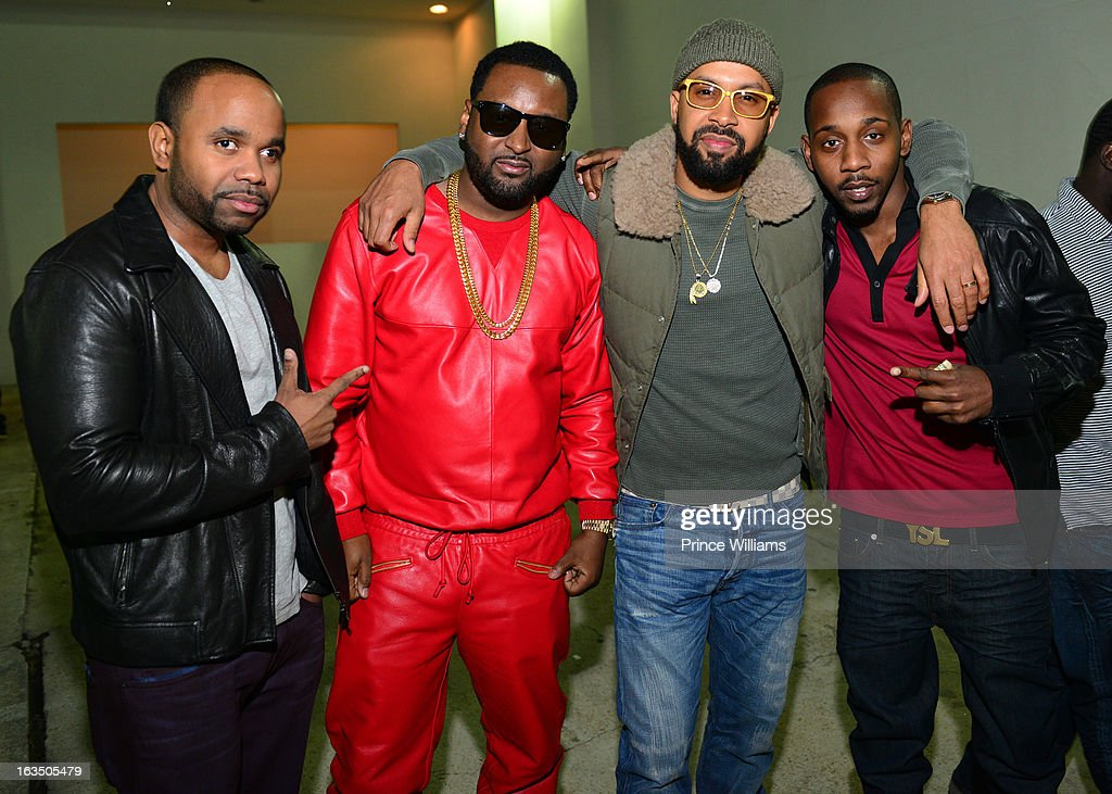 Fly Ty, Ocean, Kenny Burns and Ruggs attend at Compound on March 9, 2013 in Atlanta, Georgia.