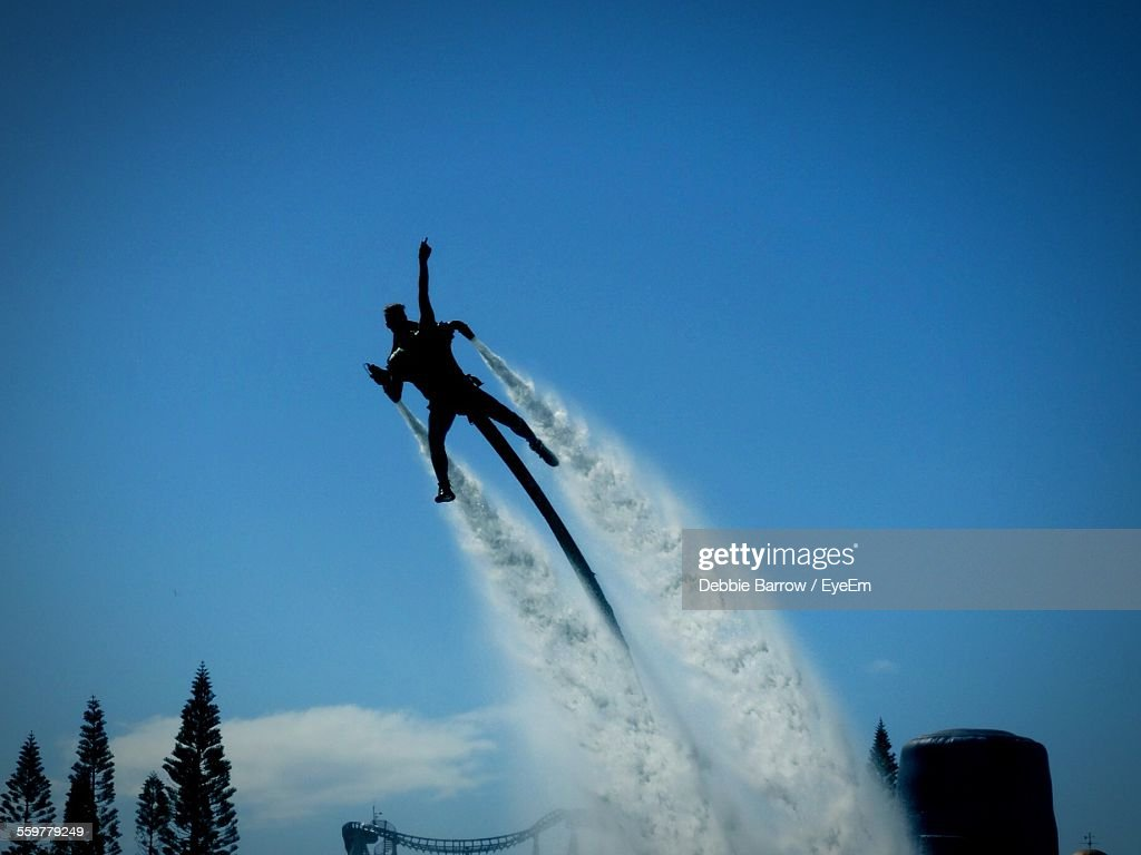 Flyboarding Man : Stock Photo