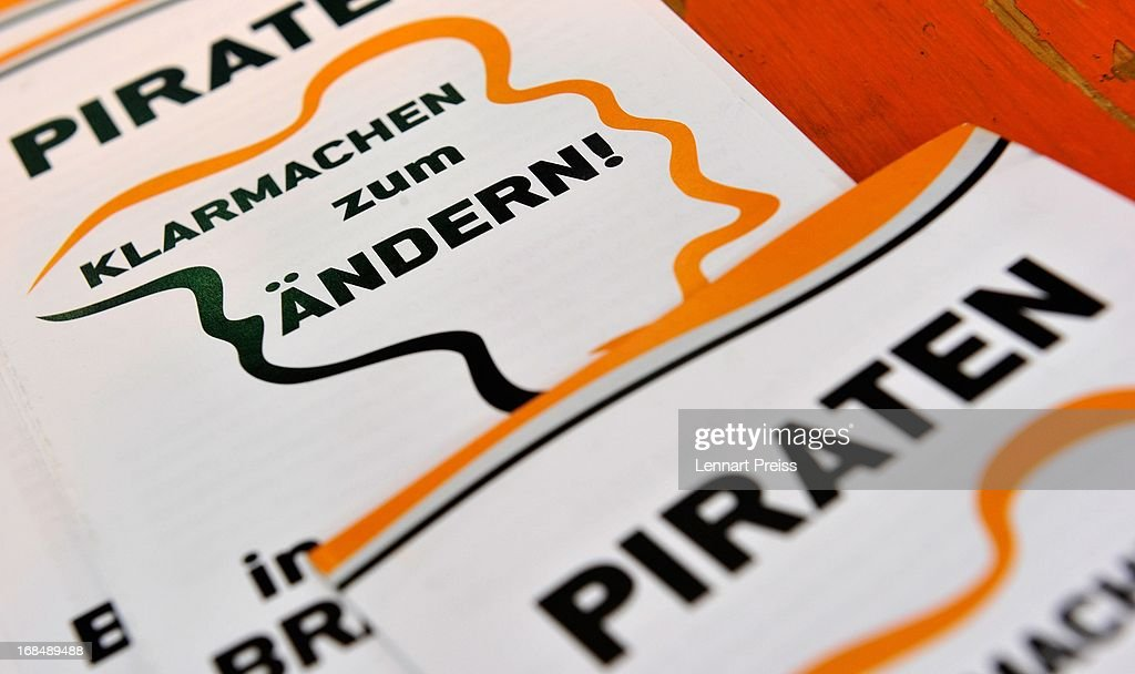 Flyers of the German Pirates Party (Die Piraten) lie on a table prior to the party's federal congress on May 10, 2013 in Neumarkt, Germany. The Pirates rode a wave of popularity driven by voter discontent with Germany's established political parties that won the Pirates seats in several state parliaments. More recently, however, the Pirates have faltered, as political infighting, leadership changes and an unclear political message have contributed to a loss of support. Germany faces federal elections in September and at current polls the Pirates would fail to pass the 5% hurdle necessary to gain seats in the Bundestag.