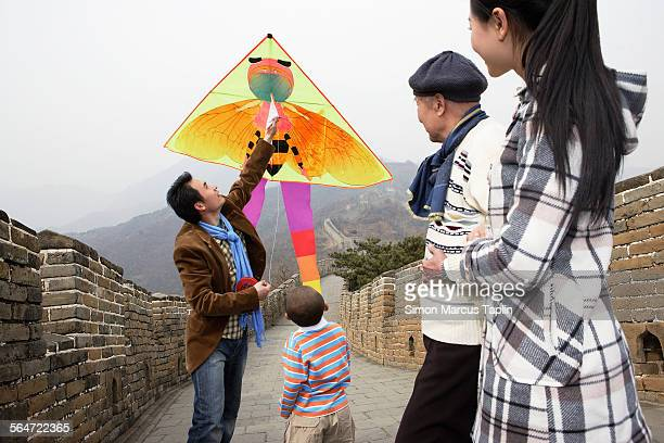 Flying a Kite on the Great Wall of China