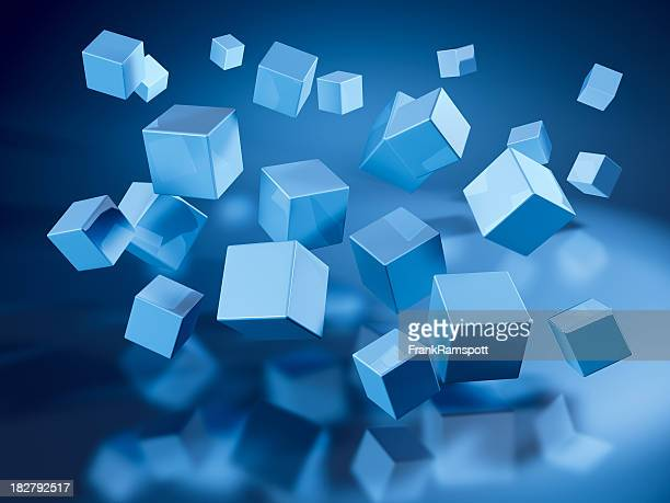 Flying Blue Cubes