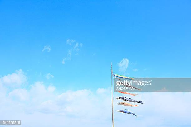 Flying Carps And Blue Sky