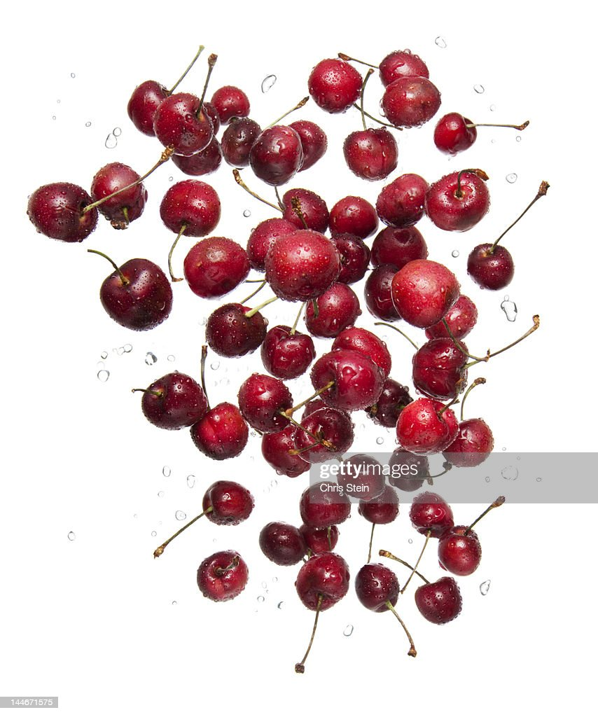 Flying Cherries : Stock Photo