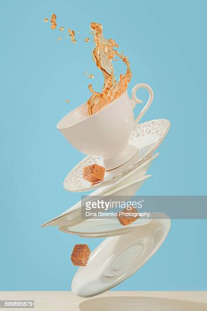Flying coffee with brown sugar