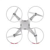 Flying drone 3d illustration