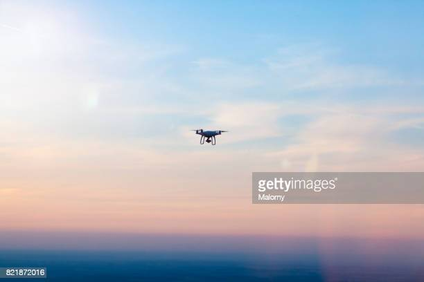 Flying drone with camera.