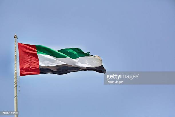 Flying Flag of United Arab Emirates