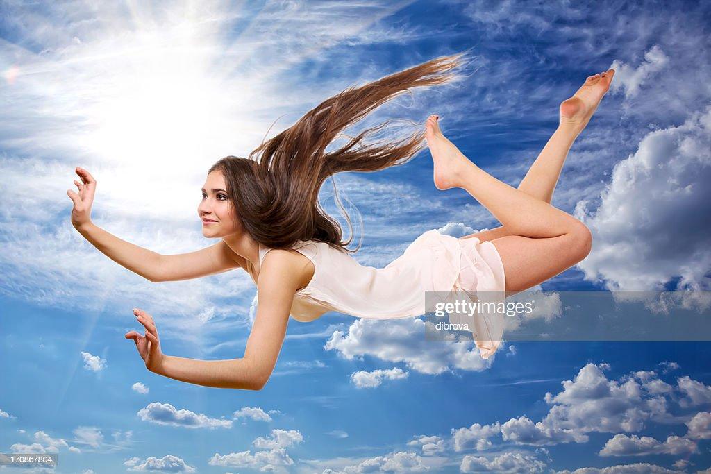 Flying Girl : Stock Photo