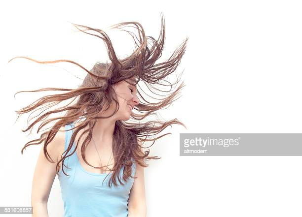 flying hair women