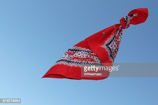 flying handkerchief : Stock Photo