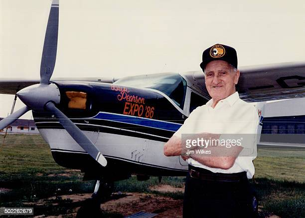 Flying high Richard Everybody calls me Dick Pearson who may be North America's oldest active pilot stands beside the singleengine Cessna 210 in which...