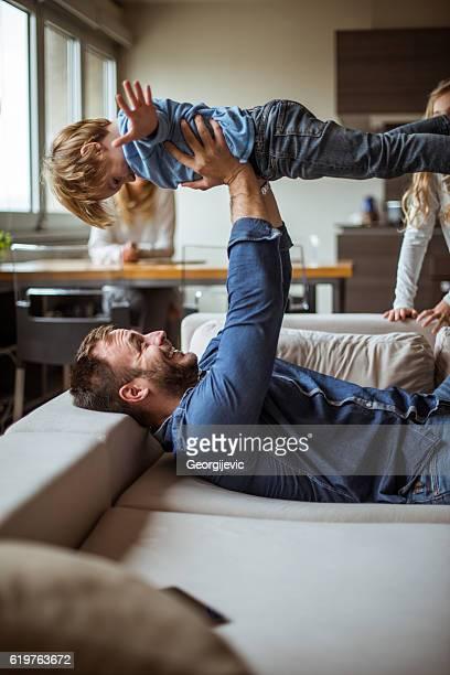 Über den Dächern mit Papa