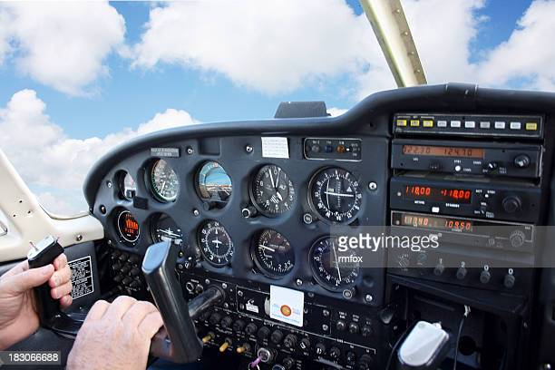 Flying in Small Airplane
