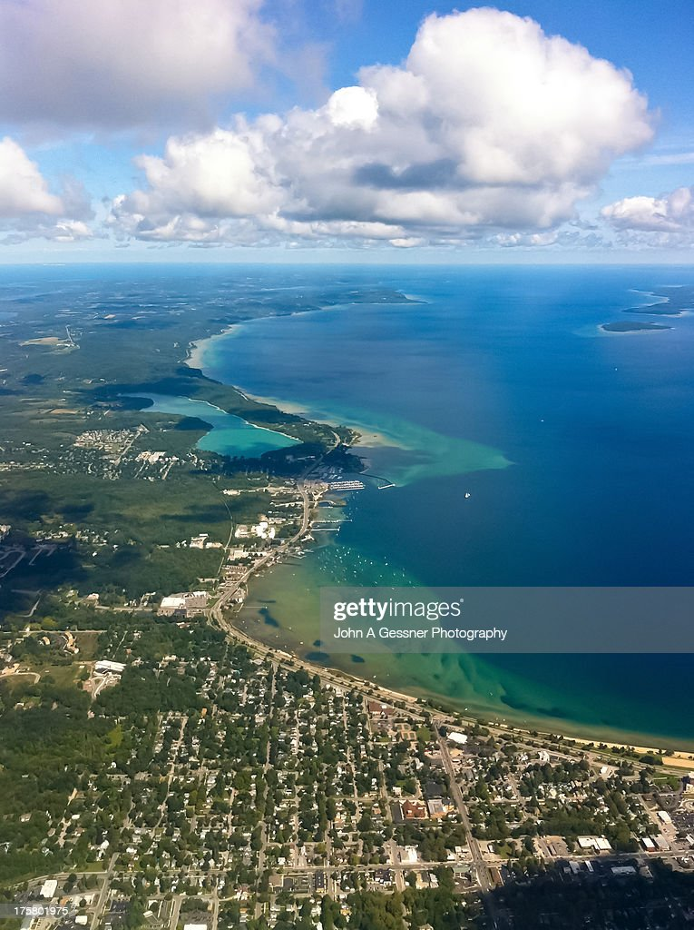Flying in to Traverse City