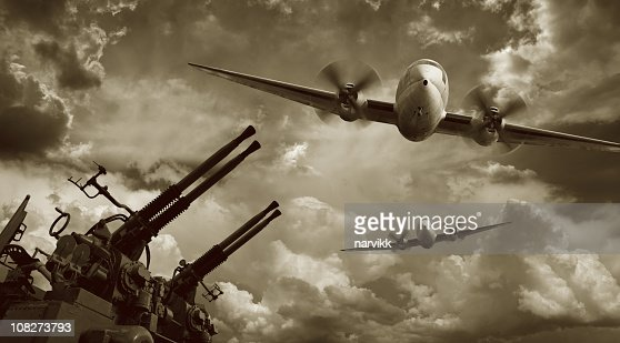 Flying Military Airplanes and Machine Guns