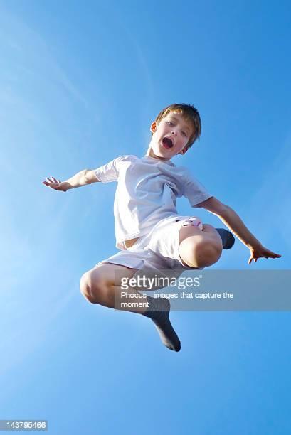 Flying olympic ballet boy