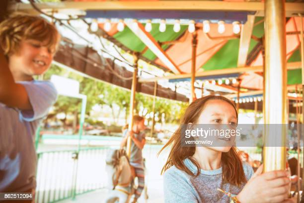 Flying on the carousel