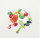 food, vegetables, organic, background, isolated