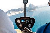 Flying over Rio de Janeiro on a helicopter ride