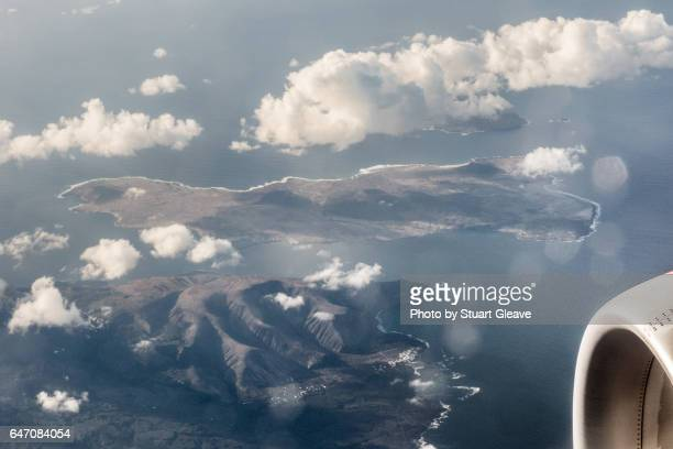 Flying over the Canary Islands