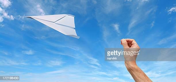 Vol Avion en papier