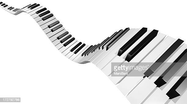 Flying piano keys