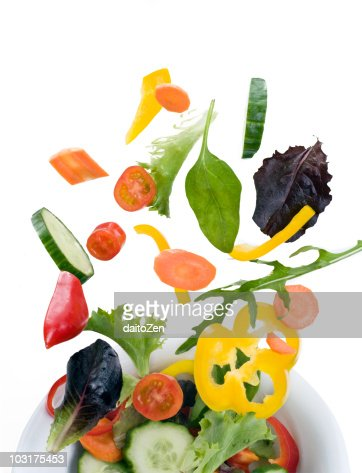 Flying Salad : Stock Photo