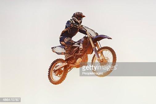 Flying the friendly skies...on his bike