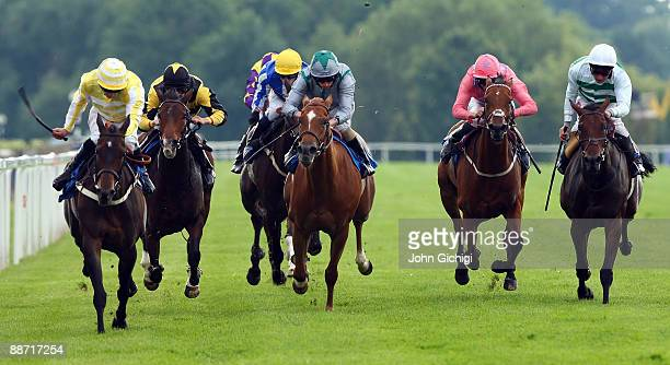 Flying Valentino ridden by Steve Drowne wins the FilliesHandicap Stakes at Royal Windsor Racecourse on June 27 2009 in Windsor England