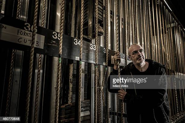 Flyman Niall Mulcahy poses for a portrait in the fly gallery at the Hackney Empire on December 17 2014 in London England Hackney Empire is currently...