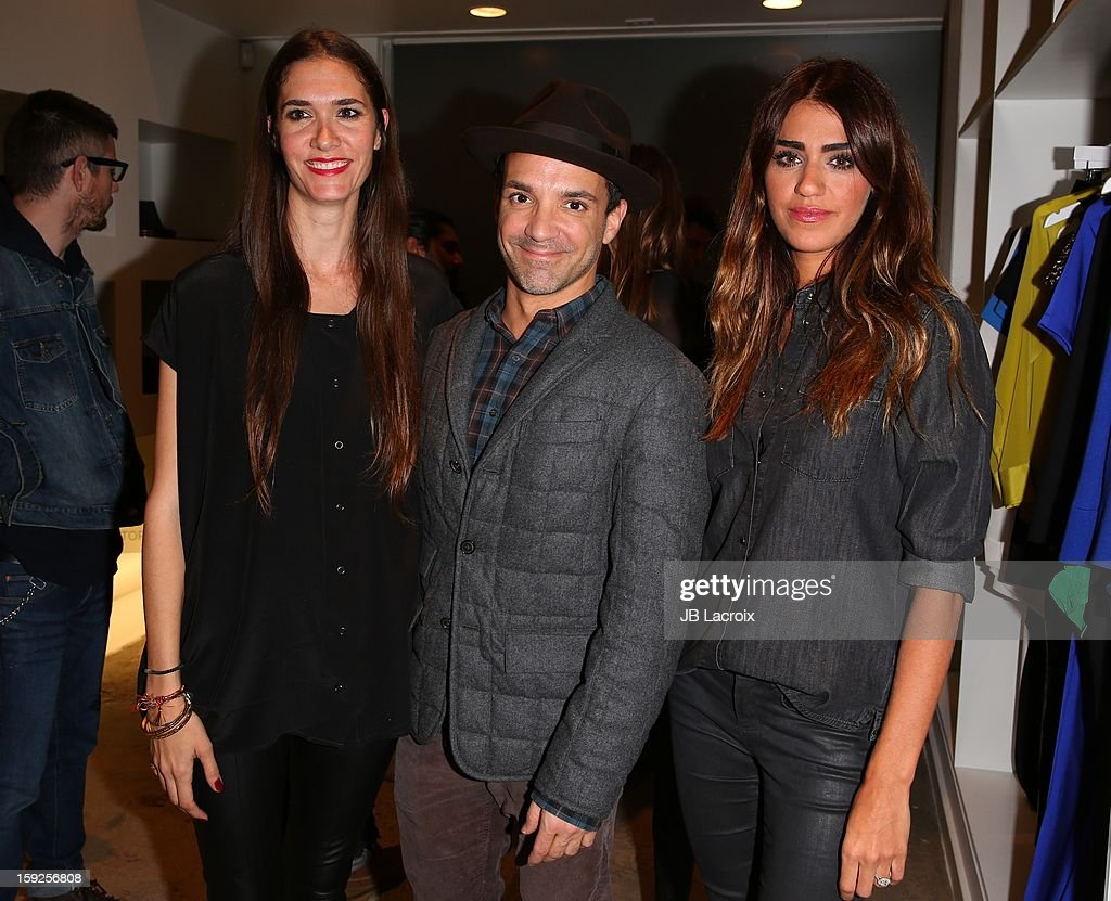 Flynn Adams, George Kotsiopoulos and Soulmaz Vosough attend the TopMen Exclusive Pop Up Shopping Event at TopShop on January 9, 2013 in Los Angeles, California.