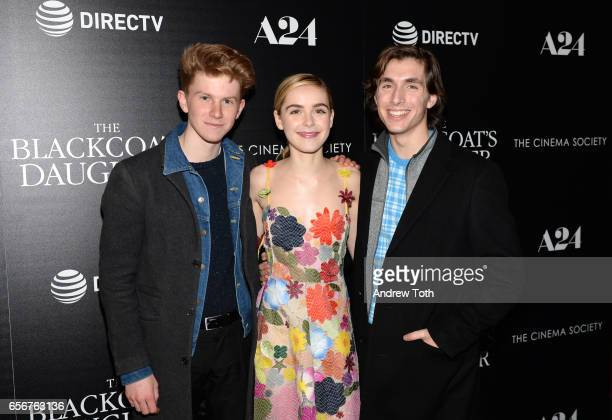 Flynn McGarry Kiernan Shipka and Isaac Spector attend a screening of 'The Blackcoat's Daughter' hosted by A24 and DirecTV with The Cinema Society at...