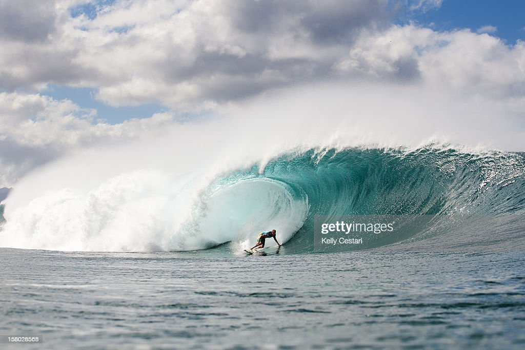 Flynn Novak of Hawaii was eliminated from the Billabong Pipe Masters in Memory of Andy Irons at Pipeline on December 8, 2012 in North Shore, United States.