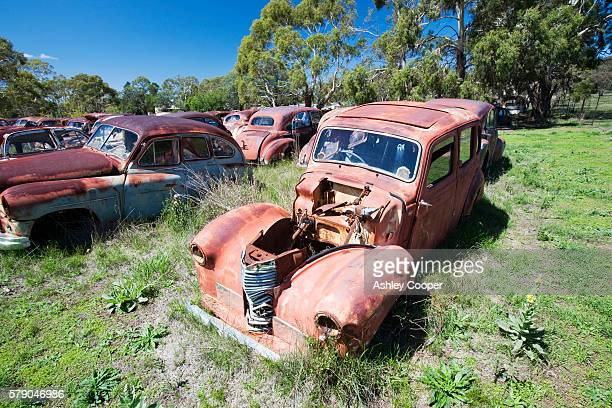 Flynns wrecking yard near Cooma in New South Wales, Australia. It is in the top 10 of wrecking yards around the world, with cars going back to the 1920,s.