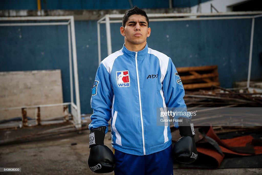 Flyweight boxer Fernando Martinez of Argentina poses during an exclusive portrait session at CeNARD on June 25, 2016 in Buenos Aires, Argentina.