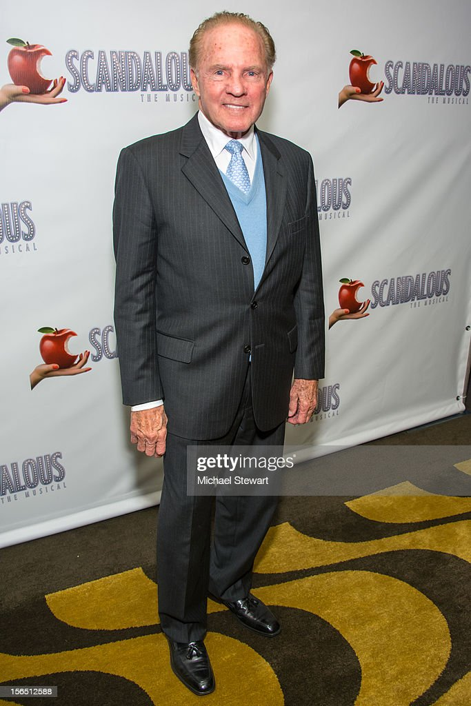 Fmr. NFL player <a gi-track='captionPersonalityLinkClicked' href=/galleries/search?phrase=Frank+Gifford&family=editorial&specificpeople=214258 ng-click='$event.stopPropagation()'>Frank Gifford</a> attends the 'Scandalous' Broadway Opening Night after party at Copacabana on November 15, 2012 in New York City.
