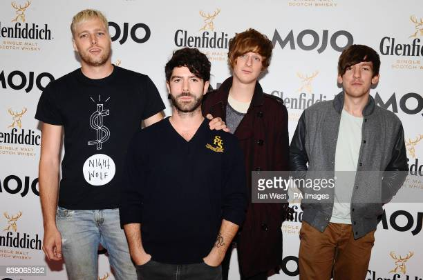 Foals arrive at the Mojo Awards at the Brewery in London