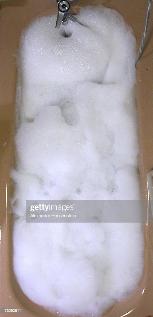 A foam bath is prepared in a bath tub on January 13, 2007 in Hamburg, Germany.