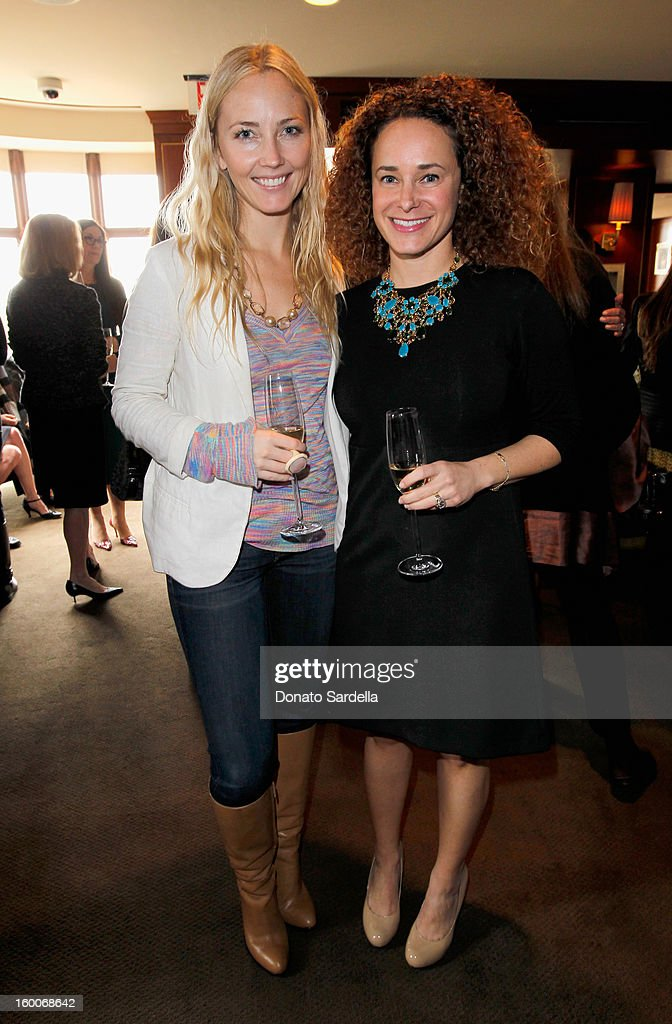 Foam Magazine Editor-in-Chief Sari Tucshman (R) attends the Champagne Taittinger Women in Hollywood Lunch hosted by Vitalie Taittinger at Sunset Tower on January 25, 2013 in West Hollywood, California.