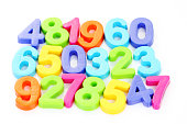 colorful number on white - education
