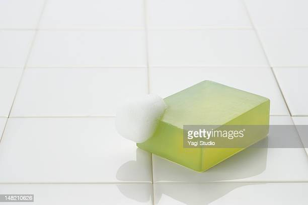 Foam on top of the soap