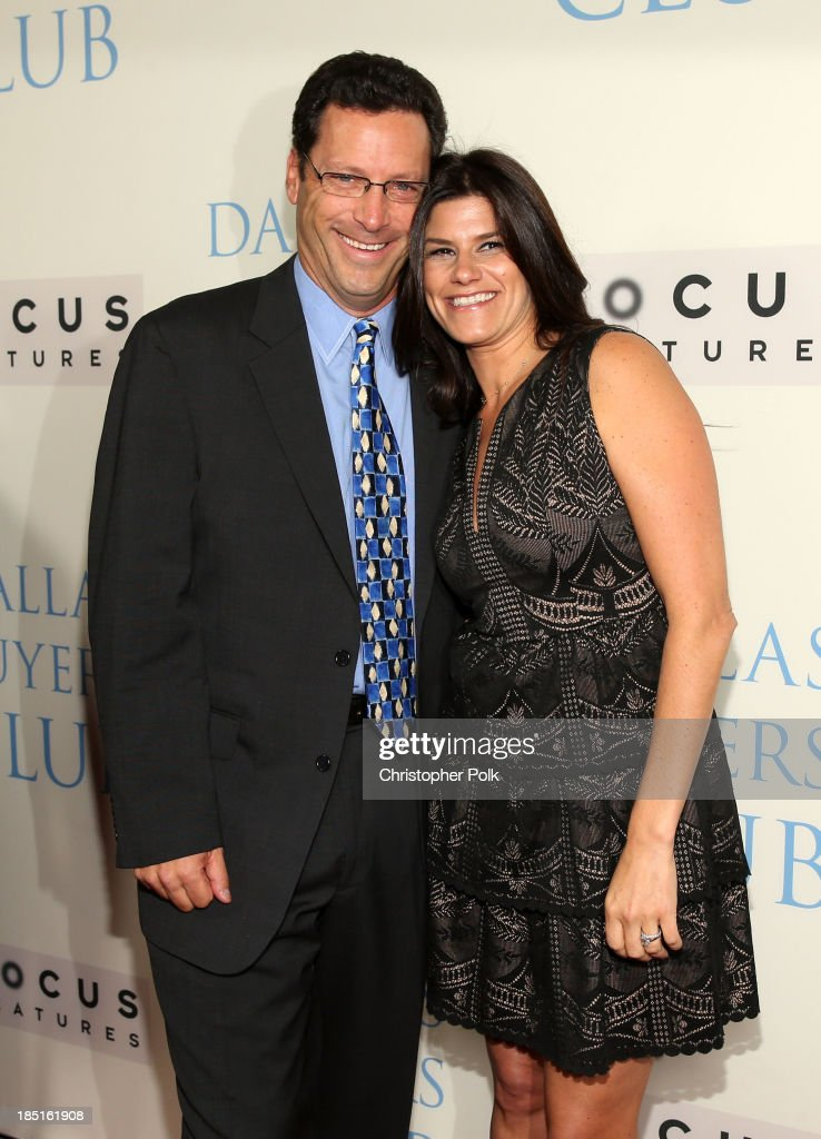 Focus Co-CEO Andrew Karpen and Producer Robbie Brenner attend Focus Features' 'Dallas Buyers Club' premiere at the Academy of Motion Picture Arts and Sciences on October 17, 2013 in Beverly Hills, California.