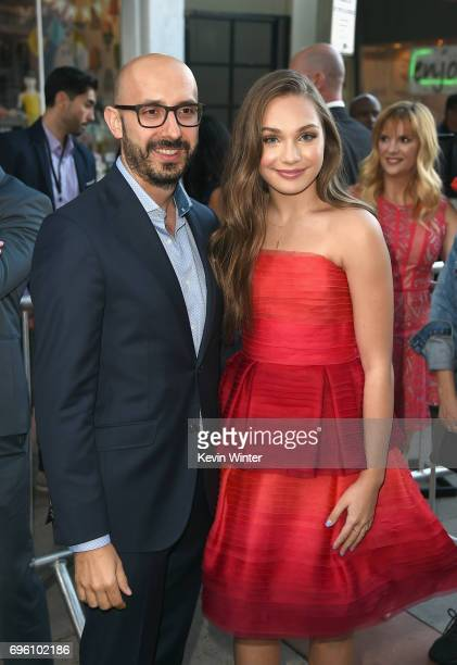 Focus Features Chairman Peter Kujawski and actor Maddie Ziegler attend the opening night premiere of Focus Features' 'The Book of Henry' during the...