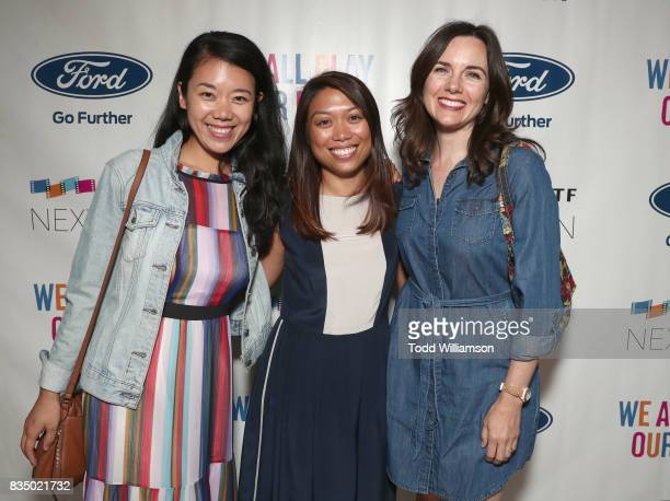 Focus Features Emily Lu Paramount's Sheritalyn Solis and LivingDeadGuy Productions' Loretta Ramos attend MPTF's NextGen Summer Party at NeueHouse...