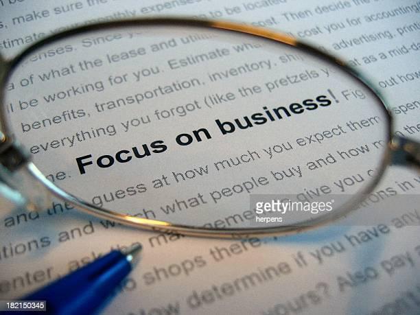 Concéntrese en los negocios