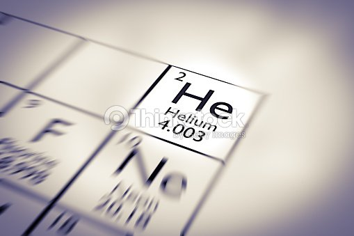 Focus On Helium Chemical Element From The Mendeleev Periodic Table