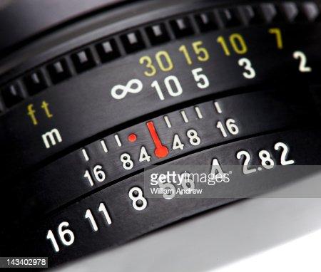 Focus ring on vintage camera