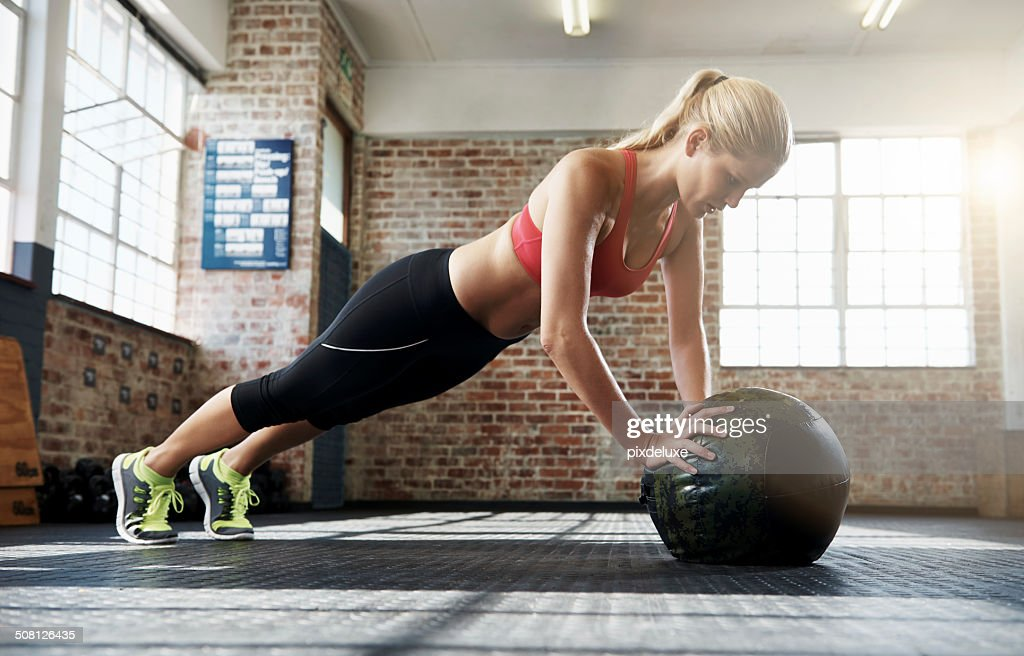 Concentrata per l'allenamento : Foto stock
