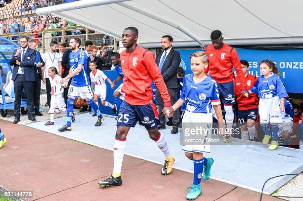 Fode Ballo of Lille during the Ligue 1 match between Racing Club Strasbourg and Lille OSC at Stade de la Meinau on August 13 2017 in Strasbourg